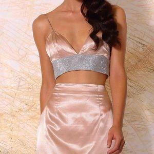 bba2dbdaf7 Meshki Tops - MESHKI Ilona Diamonte Bralette - Blush Size (XS)